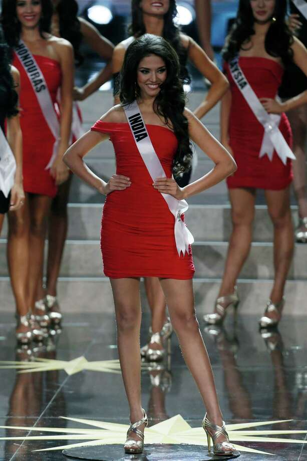 Miss India Manasi Moghe participates in the final of the 2013 Miss Universe pageant in Moscow, Russia, on Saturday, Nov. 9, 2013. Photo: Pavel Golovkin, AP / AP