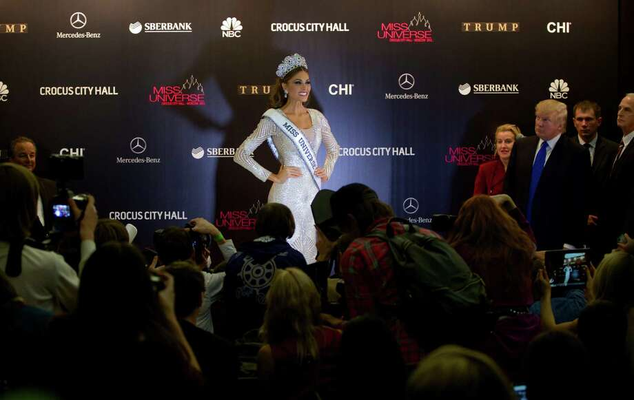 Miss Universe 2013 Gabriela Isler, from  Venezuela, poses with her crown after winning the 2013 Miss Universe pageant in Moscow, Russia, on Saturday, Nov. 9, 2013. Photo: Pavel Golovkin, AP / AP