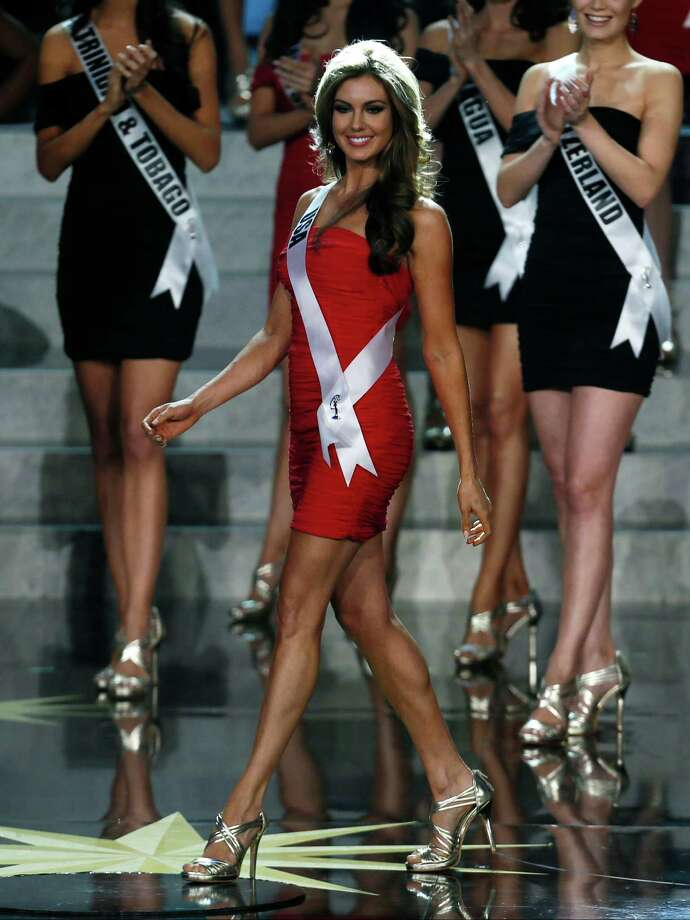 Miss USA Erin Brady smiles while partcipating in the 2013 Miss Universe pageant in Moscow, Russia, on Saturday, Nov. 9, 2013. Photo: Pavel Golovkin, AP / AP