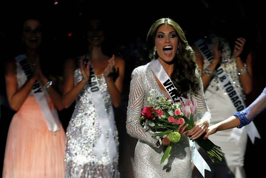 Miss Universe 2013 Gabriela Isler from Venezuela reacts after winning the 2013 Miss Universe pageant in Moscow, Russia, Saturday, Nov. 9, 2013. Photo: Pavel Golovkin, AP / AP