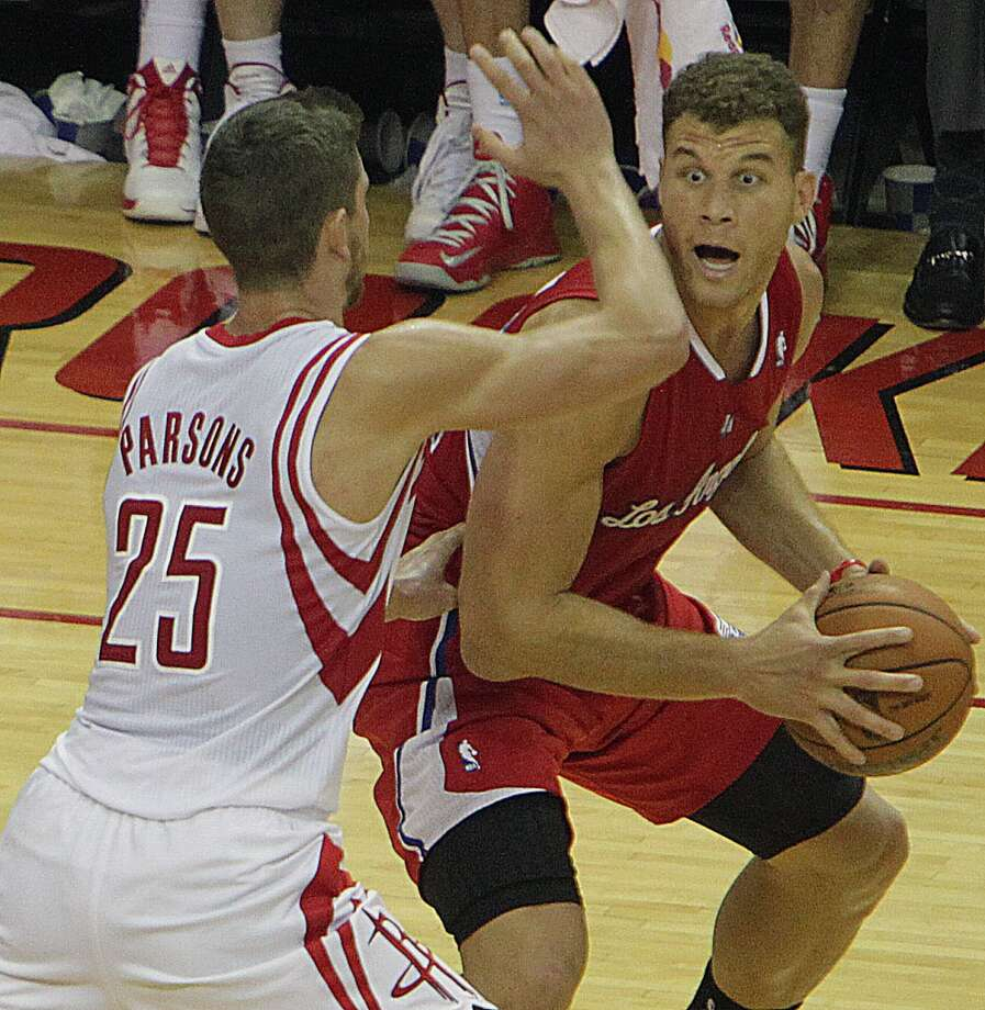 Nov. 9: Clippers 107, Rockets 94   Rockets small forward Chandler Parsons guards Clippers power forward Blake Griffin. Photo: James Nielsen, Houston Chronicle