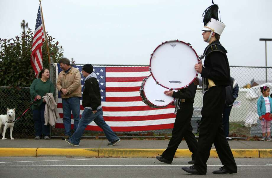 Band members march during the 48th annual Auburn Veterans Day Parade. Photo: JOSHUA TRUJILLO, SEATTLEPI.COM / SEATTLEPI.COM