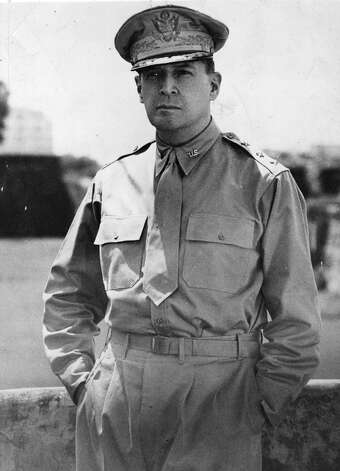 General Douglas MacArthur 1880-1964World War IIGeneral, U.S. Army, commanding U.S. Army Forces in the Far EastBataan Peninsula, Philippine Islands For conspicuous leadership in preparing the Philippine Islands to resist conquest, for gallantry and intrepidity above and beyond the call of duty in action against invading Japanese forces, and for the heroic conduct of defensive and offensive operations on the Bataan Peninsula. He mobilized, trained, and led an army which has received world acclaim for its gallant defense against a tremendous superiority of enemy forces in men and arms. His utter disregard of personal danger under heavy fire and aerial bombardment, his calm judgment in each crisis, inspired his troops, galvanized the spirit of resistance of the Filipino people, and confirmed the faith of the American people in their Armed Forces. Photo: Keystone, Getty Images / Hulton Archive
