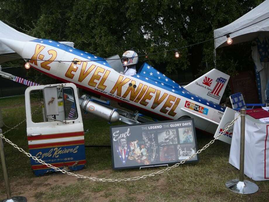Evel Knievel's skycycle was on display at Auditorium Shores. Photo: Jim Kiest