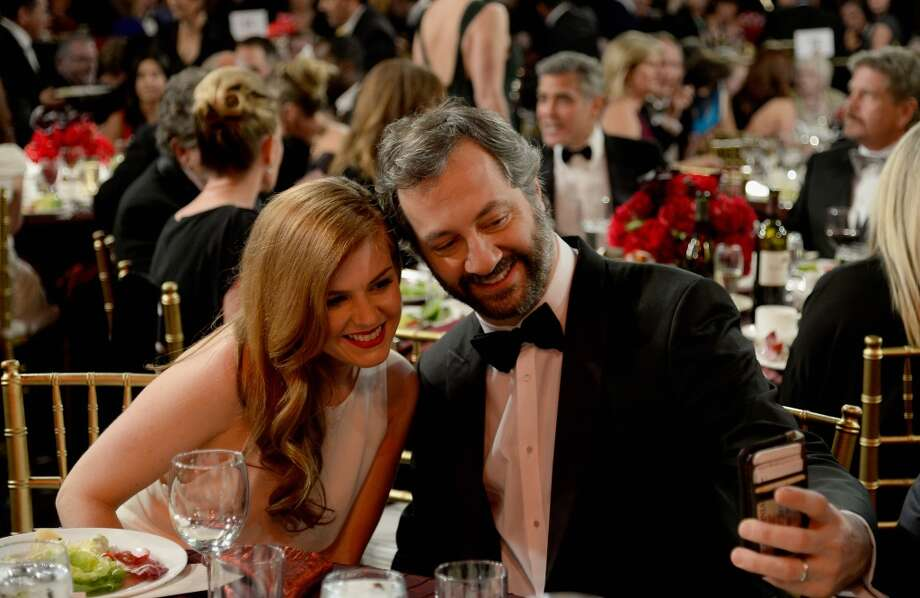 Actress Isla Fisher and director Judd Apatow attend the 2013 BAFTA LA Jaguar Britannia Awards presented by BBC America at The Beverly Hilton Hotel on November 9, 2013 in Beverly Hills, California. Photo: Kevork Djansezian/BAFTA LA, Getty Images For BAFTA LA