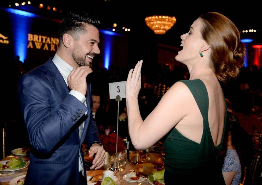 Actors Dominic Cooper (L) and Alice Eve attend the 2013 BAFTA LA Jaguar Britannia Awards presented by BBC America at The Beverly Hilton Hotel on November 9, 2013 in Beverly Hills, California. Photo: Kevork Djansezian/BAFTA LA, Getty Images For BAFTA LA
