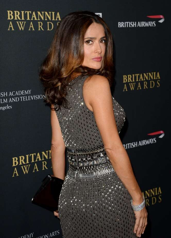 Actress Salma Hayek attends the 2013 BAFTA LA Jaguar Britannia Awards presented by BBC America at The Beverly Hilton Hotel on November 9, 2013 in Beverly Hills, California. Photo: Jason Merritt, Getty Images
