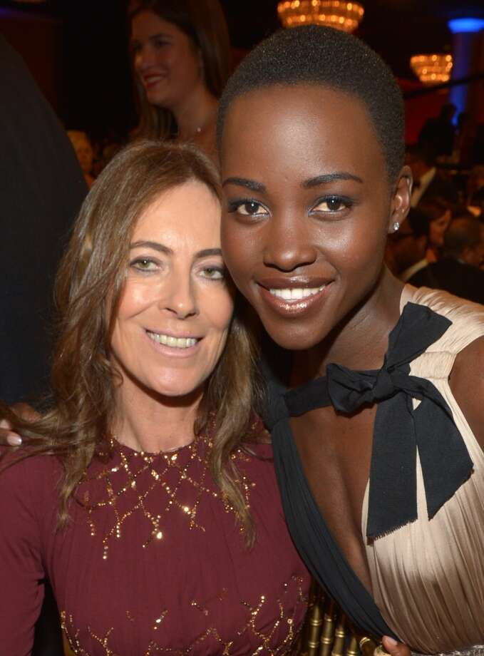 Director Kathryn Bigelow (L) and Lupita Nyong'o attend the 2013 BAFTA LA Jaguar Britannia Awards presented by BBC America at The Beverly Hilton Hotel on November 9, 2013 in Beverly Hills, California. Photo: Michael Buckner/BAFTA LA, Getty Images For BAFTA LA