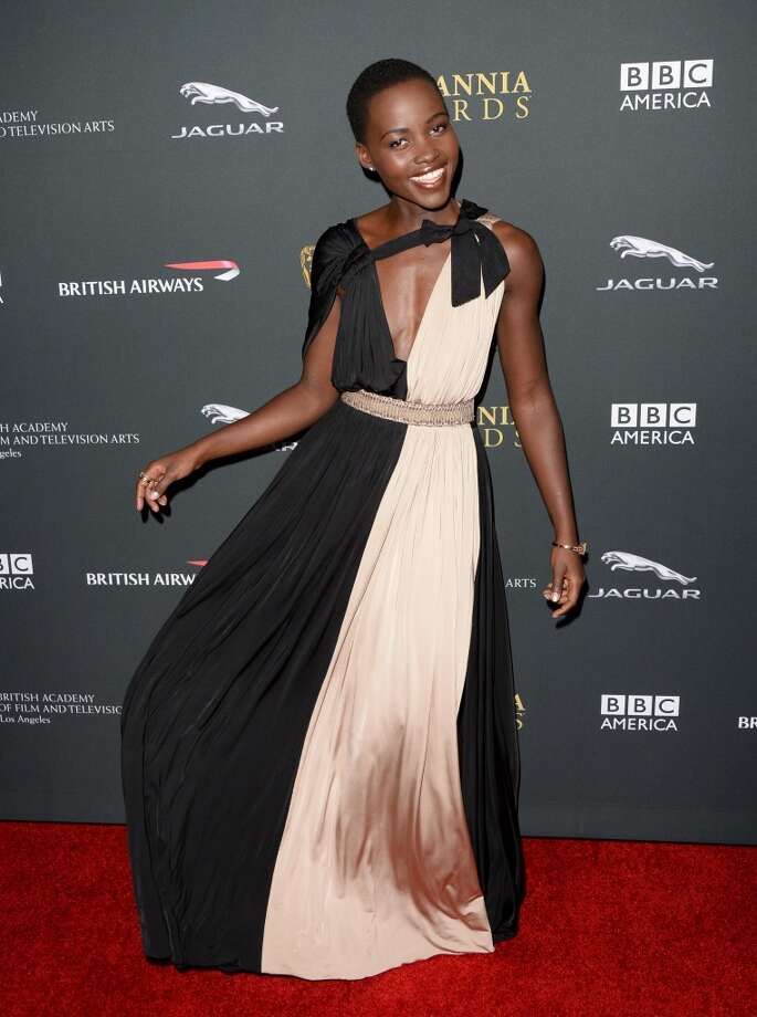 Actress Lupita Nyong'o attends the 2013 BAFTA LA Jaguar Britannia Awards presented by BBC America at The Beverly Hilton Hotel on November 9, 2013 in Beverly Hills, California. Photo: Jason Merritt, Getty Images