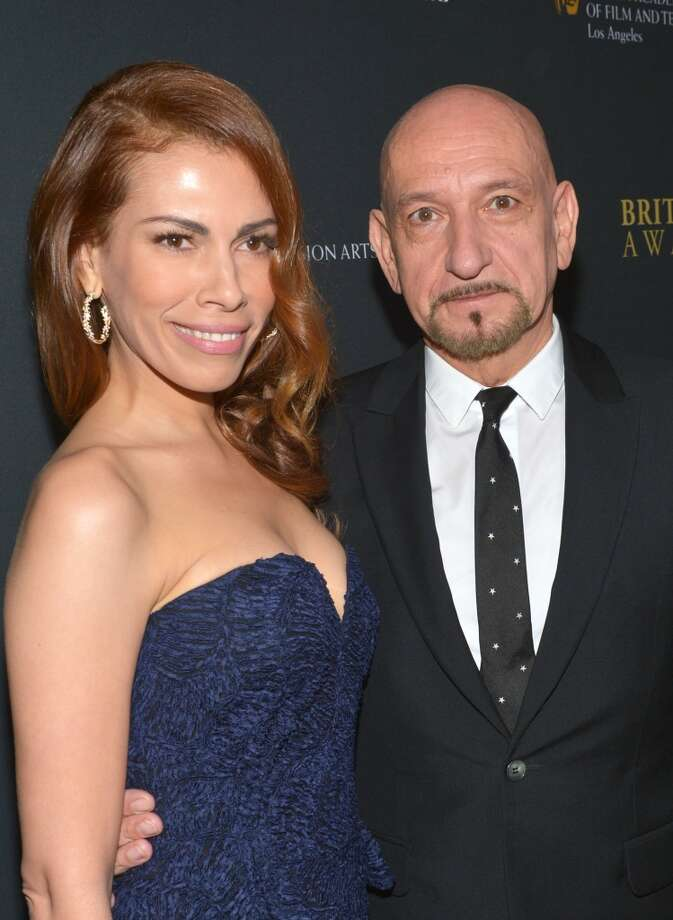 Actor Ben Kingsley (R) and actress Daniela Lavender attend the 2013 BAFTA LA Jaguar Britannia Awards presented by BBC America at The Beverly Hilton Hotel on November 9, 2013 in Beverly Hills, California. Photo: Michael Buckner/BAFTA LA, Getty Images