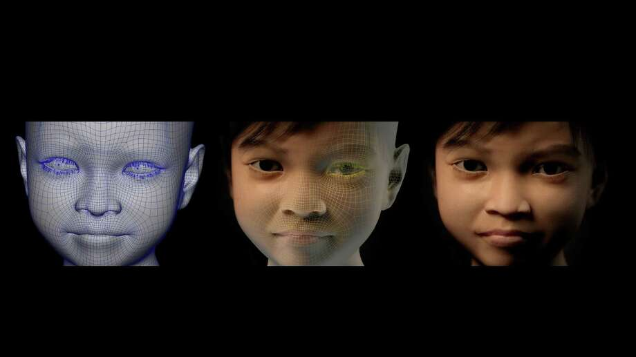 "In this image provided by Terre des Hommes Monday Nov. 4, 2103, shows three phases in the creation of the computer generated image of a fake 10-year-old Filipino girl called Sweetie. The Dutch children's rights organization is warning of an epidemic of children being paid to perform sexual acts via webcams and urging police around the world to crack down on the sinister practice. The organization set up a room in an anonymous industrial neighborhood of Amsterdam and created Sweetie, a strikingly realistic computer-generated animation intended to look like a 10-year-old Filipino girl. The effect of the 10-week investigation was shocking, director of projects Hans Guyt said. ""We were swamped by men looking for contact, looking for sexual activities with us,"" he said. Photo: Uncredited, AP / AP2013"