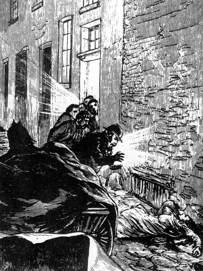 1888, London, England, Murder, Elizabeth Stride, aged 45, a prostitute, died in Berners Street, her windpipe was severed, but Jack the Ripper had apparently been interrupted and she became one of his six victims. Photo: Popperfoto, Getty Images / Popperfoto