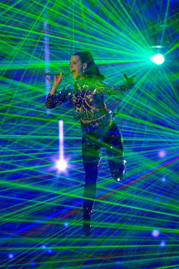 Katy Perry performs onstage during the MTV EMA's 2013 at the Ziggo Dome on November 10, 2013 in Amsterdam, Netherlands. Photo: Gareth Cattermole, Getty Images For MTV