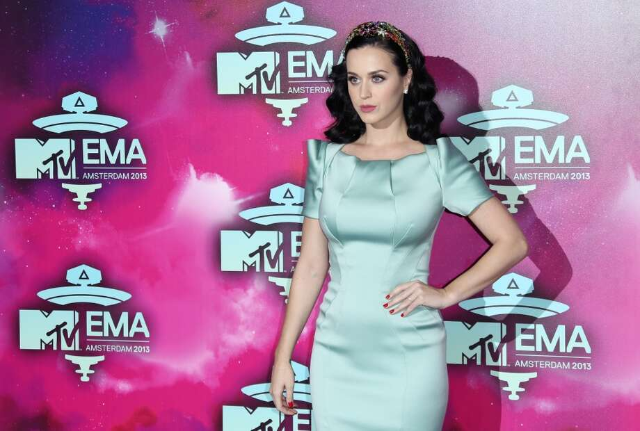 Katy Perry poses for photographers upon arrival at the 2013 MTV Europe Music Awards, in Amsterdam, Netherlands, Sunday, Nov. 10, 2013. Photo: Joel Ryan, Joel Ryan/Invision/AP