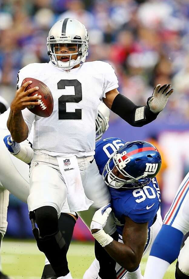 "Terrelle Pryor, sacked by Jason Pierre-Paul, said: ""I wasn't myself."" Photo: Elsa, Getty Images"