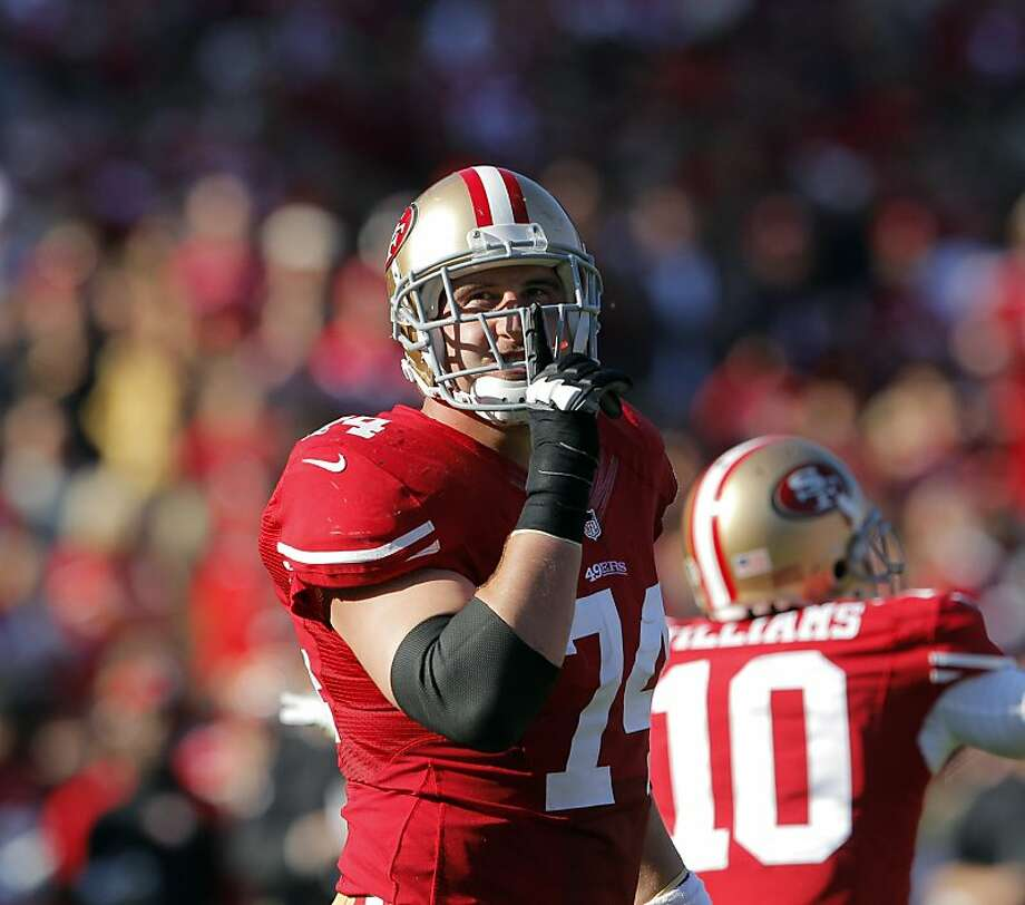Joe Staley has established himself as a colorful personality with the 49ers. Photo: Carlos Avila Gonzalez, The Chronicle