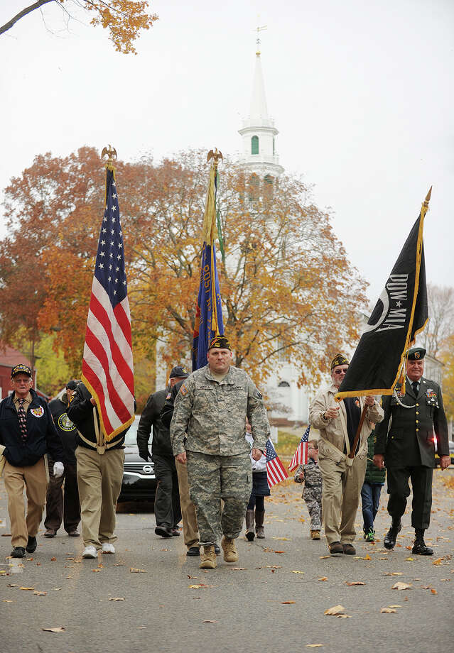 The Veteran's Day Parade in downtown Milford, Conn. on Sunday, November 10, 2013. Photo: Brian A. Pounds / Connecticut Post