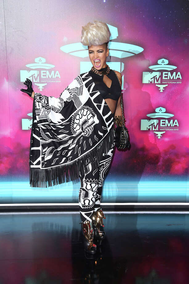 Eva Simons poses for photographers upon arrival at the 2013 MTV Europe Music Awards, in Amsterdam, Netherlands, Sunday, Nov. 10, 2013. Photo: Joel Ryan, Associated Press / Invision