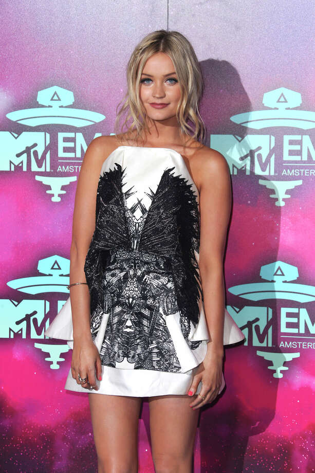 Laura Whitmore arrives for the 2013 MTV Europe Music Awards in Amsterdam, Netherlands, Sunday, Nov. 10, 2013. Photo: Joel Ryan, Associated Press / Invision
