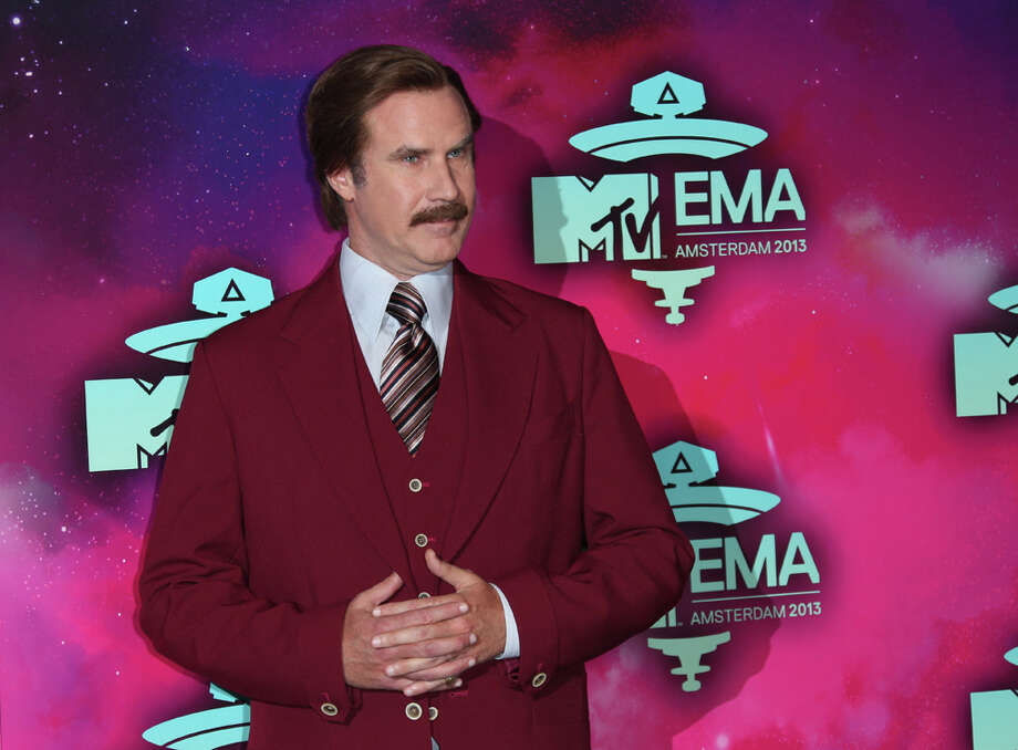 Actor Will Ferrell, dressed as the character Ron Burgundy, poses for photographers upon arrival at the 2013 MTV Europe Music Awards, in Amsterdam, Netherlands, Sunday, Nov. 10, 2013. Photo: Joel Ryan, Associated Press / Invision