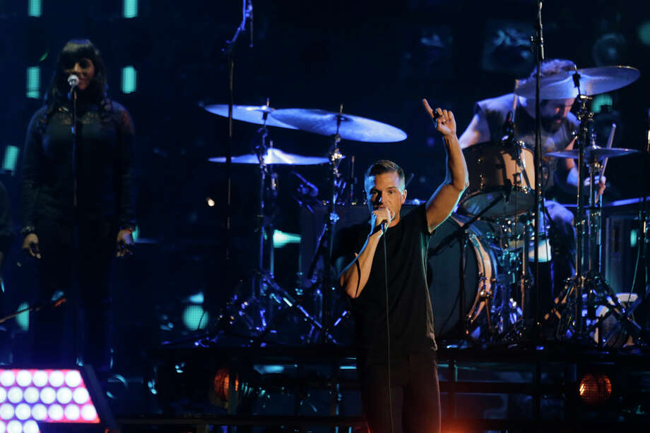 Brandon Flowers of The Killers performs at the 2013 MTV Europe Music Awards in Amsterdam, Netherlands, Sunday, Nov. 10, 2013. Photo: Peter Dejong, Associated Press / AP