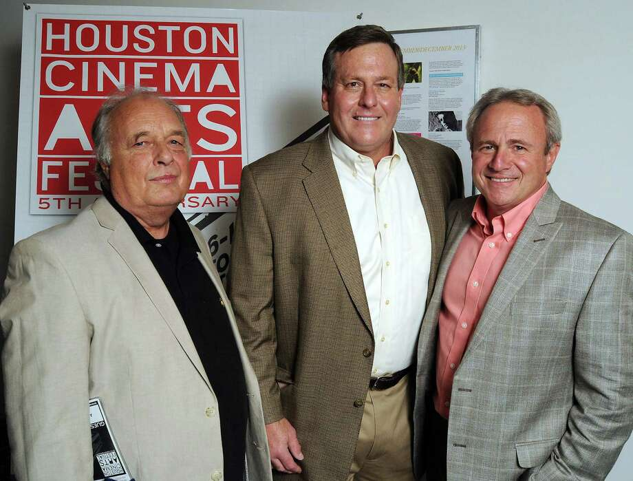 Director Al Reinert, left, attorney John Raley and Michael Morton arrive for the screening of Reinert's movie about Morton, wrongly convicted of killing his wife. Photo: Dave Rossman, Freelance / © 2013 Dave Rossman