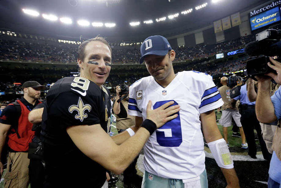 in the second half of an NFL football game in New Orleans, Sunday, Nov. 10, 2013. (AP Photo/Dave Martin) Photo: Dave Martin, Associated Press / AP