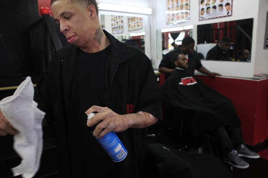 "Emory ""Em"" Waite maintains his clippers in his shop ""The Em's Barber Shop"" in San Francisco, Calif. Photo: Mike Kepka, The Chronicle"