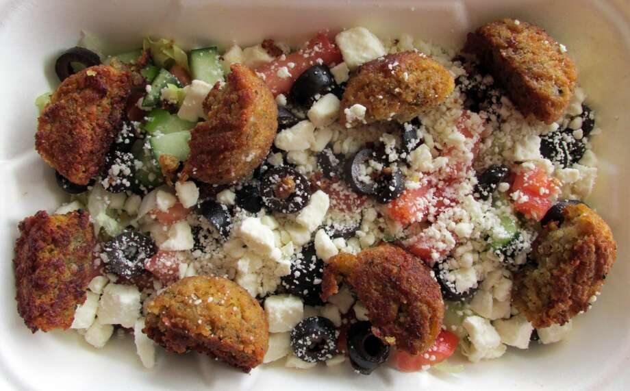 The falafel salad at Pita Pit in Beaumont. Photo: Cat5
