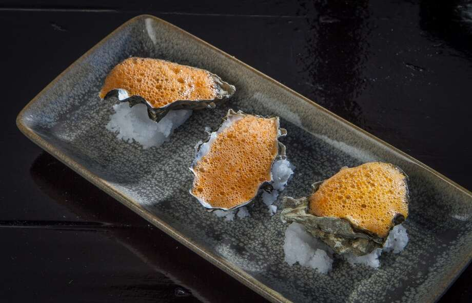 Oysters with a Tomato, Garlic and Chili Froth at La Urbana in San Francisco. Photo: John Storey, Special To The Chronicle