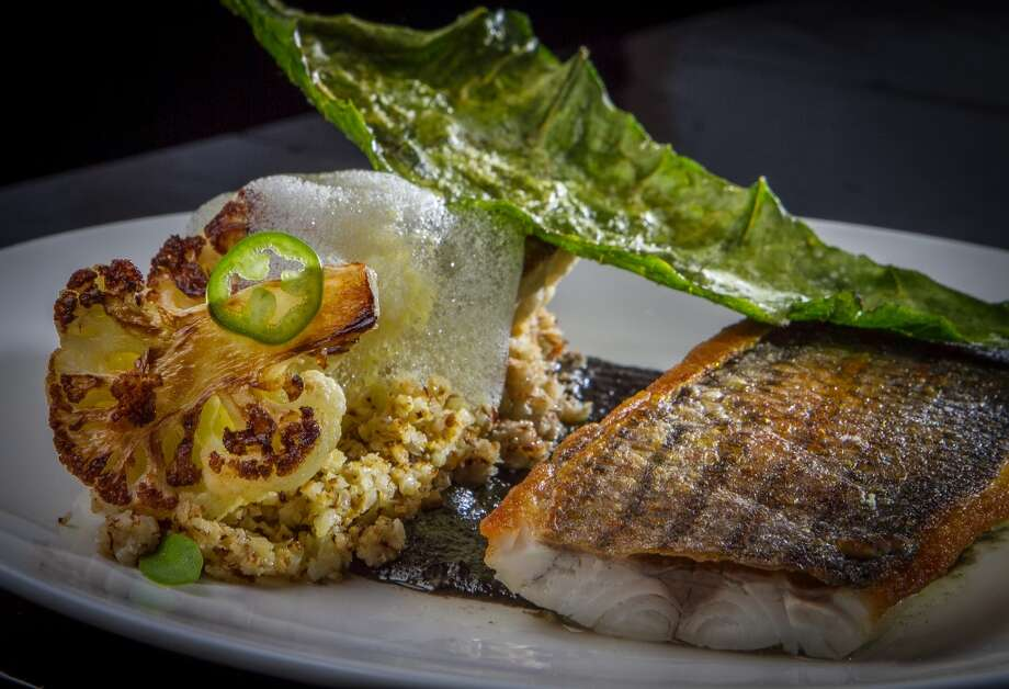 Striped Bass with Citrus Corn Foam at La Urbana in San Francisco. Photo: John Storey, Special To The Chronicle