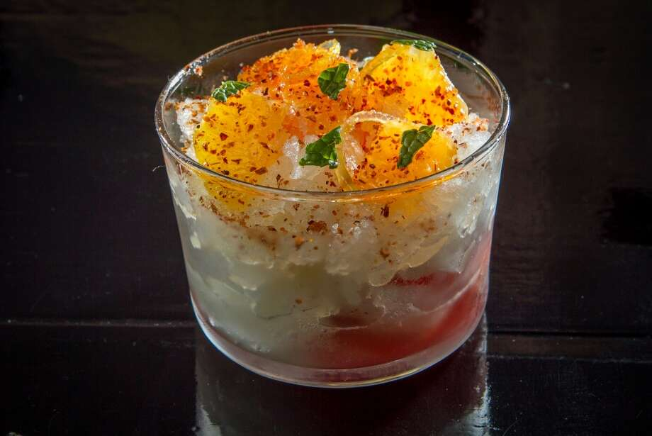 Lemon Granita with Orange Sorbet and Chile Piquin at La Urbana in San Francisco. Photo: John Storey, Special To The Chronicle