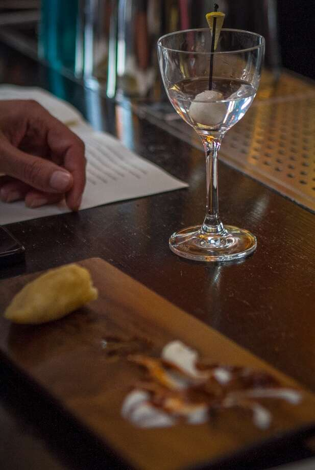 A half drunk Martini at La Urbana in San Francisco. Photo: John Storey, Special To The Chronicle