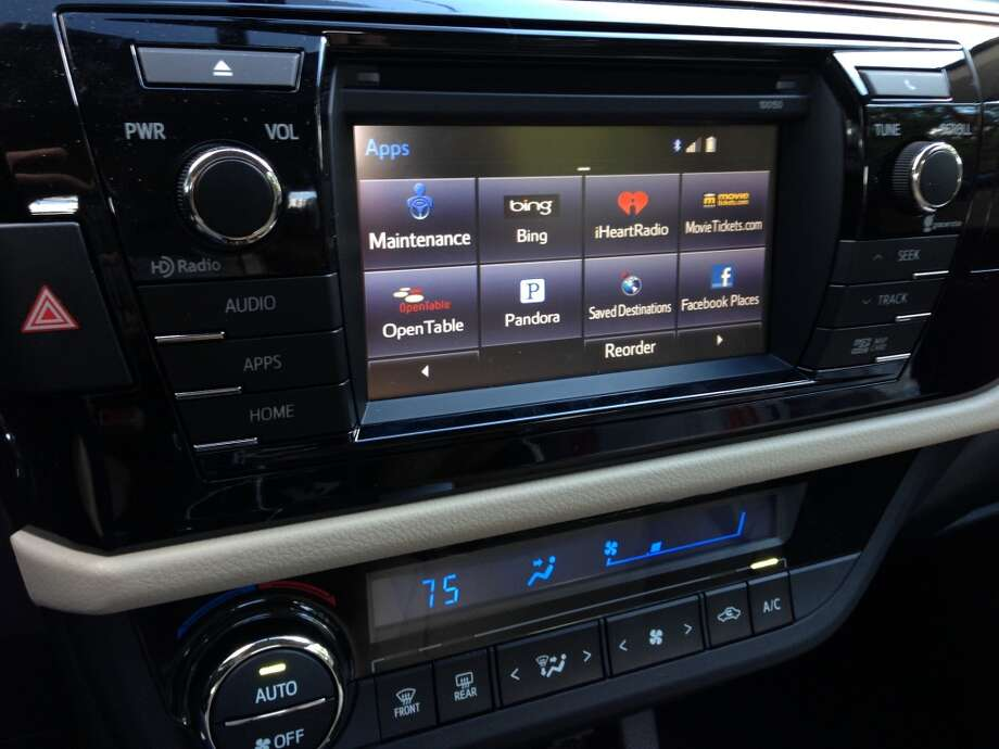 These are the apps that appeared after the in-dash software was updated. Photo: Dwight Silverman, Houston Chronicle