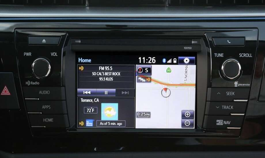 You can set up the touchscreen to show different info in split-screen format. Photo: Toyota