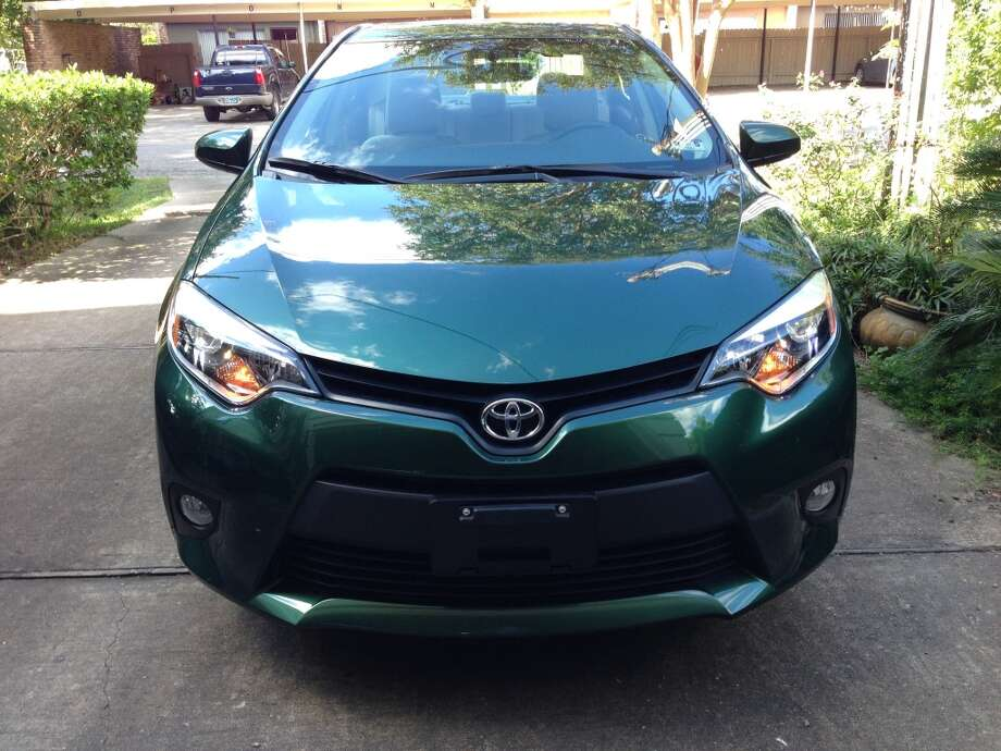 Corolla LE Plus, front view. This color is Evergreen. Photo: Dwight Silverman, Houston Chronicle