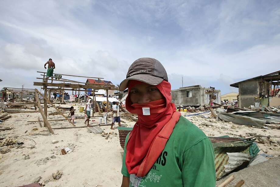 Residents must rebuild homes in the Philippines' Eastern Samar province. Photo: Bullit Marquez, Associated Press