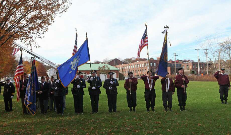 Shelton celebrates a Veterans Day ceremony at Veterans Memorial Park on Monday, Nov.11, 213. Photo: BK Angeletti, B.K. Angeletti / Connecticut Post freelance B.K. Angeletti