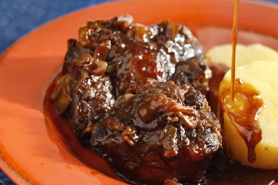 Caribbean-style oxtail by Sarah Kimon, Miss Ollie's. Photo: Craig Lee, Special To The Chronicle
