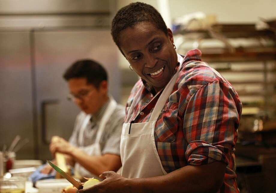 Chef Sarah Kirnon of Miss Ollie's at Old Swan's Market in downtown Oakland. Photo: Liz Hafalia, The Chronicle