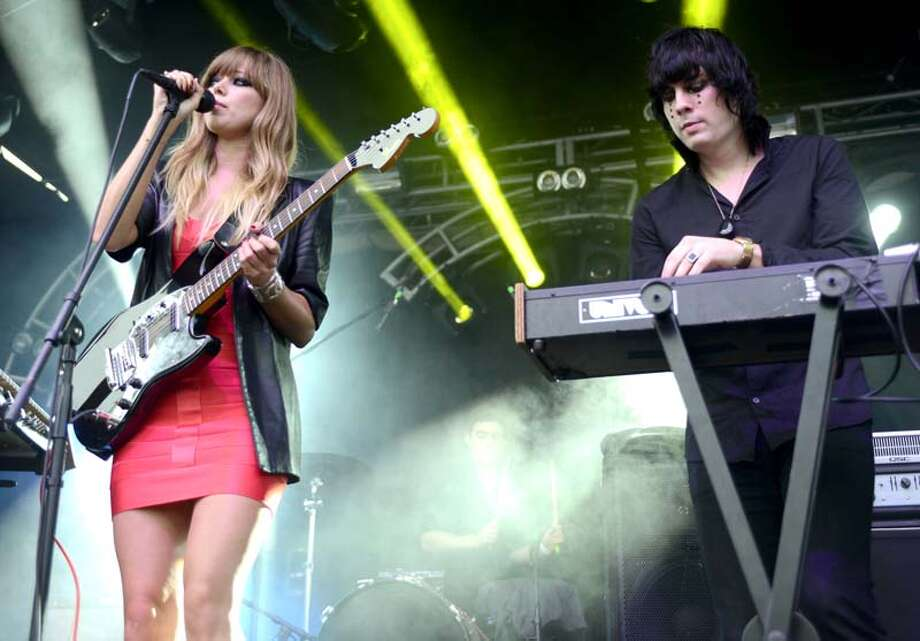 Ruth Radelet (L) and Johnny Jewel of the Chromatics perform as part of the Fun Fun Fun Festival at Auditorium Shores on November 9, 2013 in Austin, Texas. (Photo by Tim Mosenfelder/Getty Images) Photo: Tim Mosenfelder, Getty Images / 2013 Tim Mosenfelder