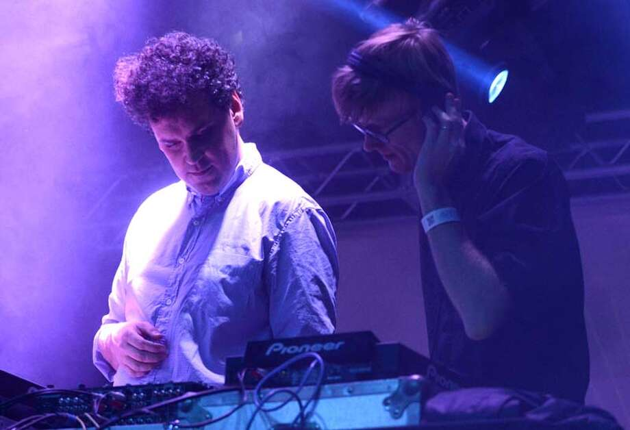 James Ford (L) and Jas Shaw of Simian Mobile Disco perform as part of the Fun Fun Fun Festival at Auditorium Shores on November 9, 2013 in Austin, Texas. (Photo by Tim Mosenfelder/Getty Images) Photo: Tim Mosenfelder, Getty Images / 2013 Tim Mosenfelder