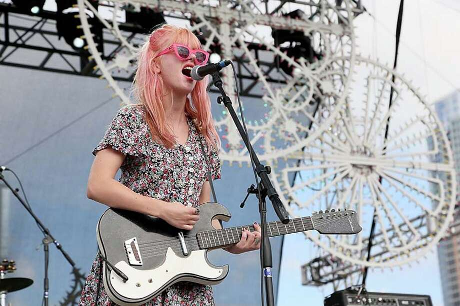 Jennifer Clavin of Bleached performs during Fun Fun Fun Fest at Auditorium Shores on November 9, 2013 in Austin, Texas.  (Photo by Gary Miller/FilmMagic) Photo: Gary Miller, FilmMagic / 2013 Gary Miller