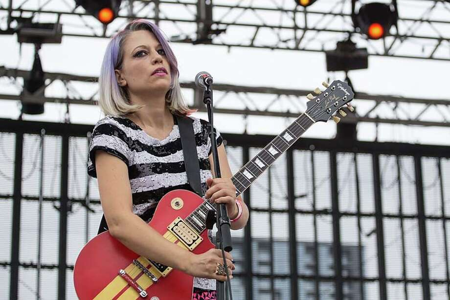 Musician Sara Landeau of The Julie Ruin performs on stage during Day 3 of Fun Fun Fun Fest at Auditorium Shores on November 10, 2013 in Austin, Texas.  (Photo by Rick Kern/Getty Images) Photo: Rick Kern, Getty Images / 2013 Rick Kern