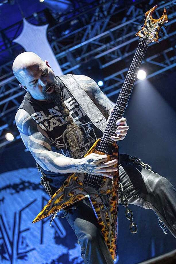 Musician Kerry King of Slayer performs on stage during Day 3 of Fun Fun Fun Fest at Auditorium Shores on November 10, 2013 in Austin, Texas.  (Photo by Rick Kern/Getty Images) Photo: Rick Kern, Getty Images / 2013 Rick Kern