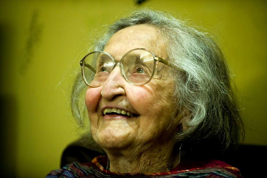 Faith Petric was well known for her ability to remember the lyrics to thousands of folk songs. Photo: Chad Ziemendorf, The Chronicle