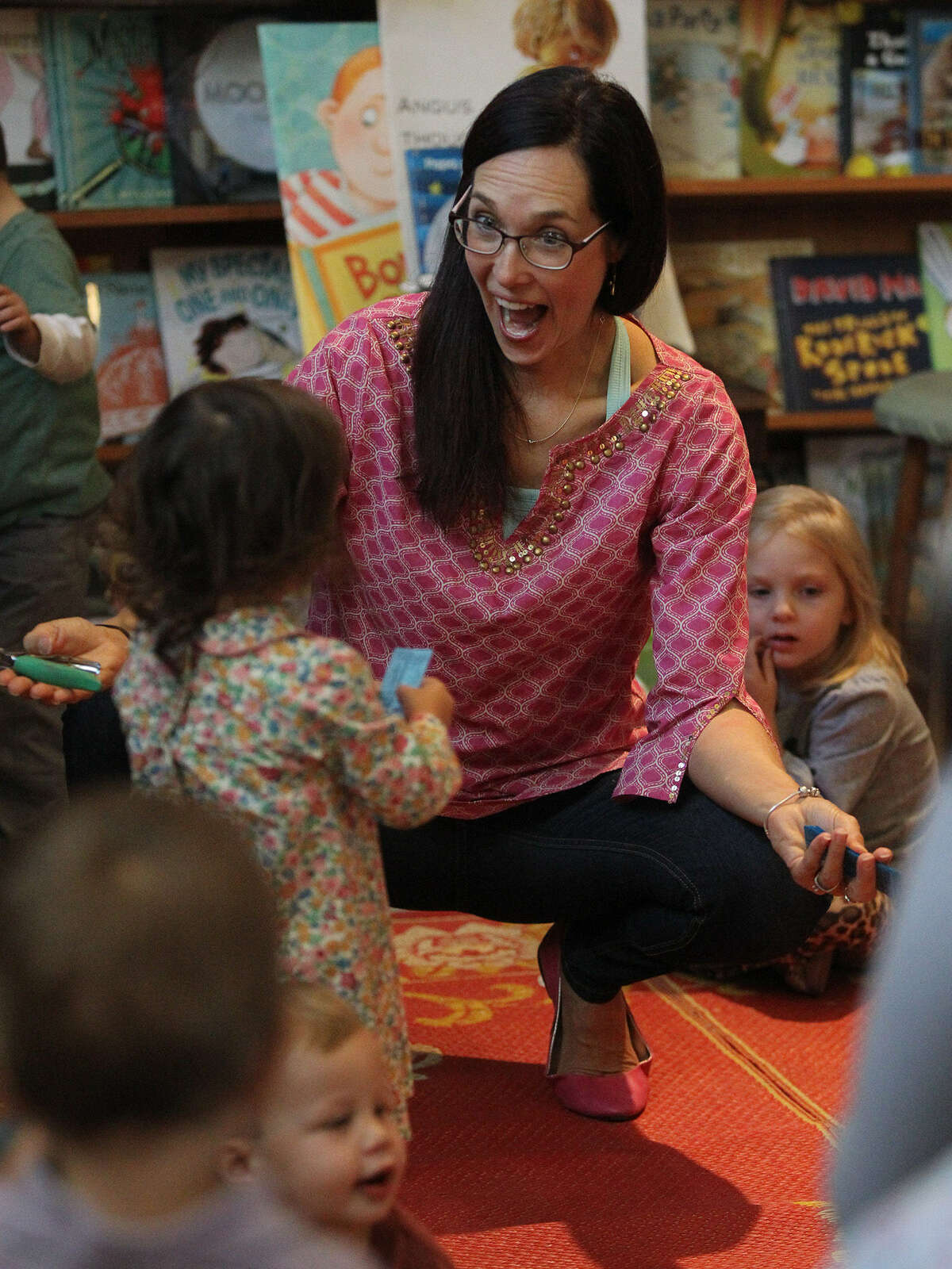McKenna, a former schoolteacher, has hosted a weekly story time at The Twig Book Shop for the past 14 years.