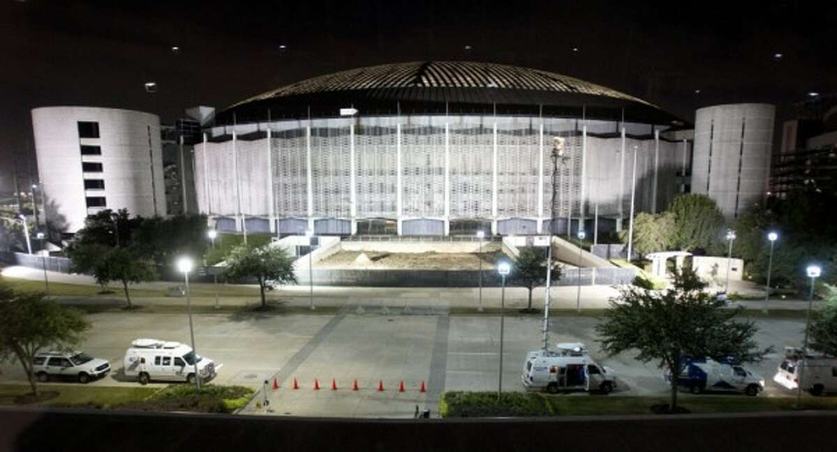 The Astrodome is shown during an election watch party at Reliant Center Tuesday, Nov. 5. (Brett Coomer / Houston Chronicle)