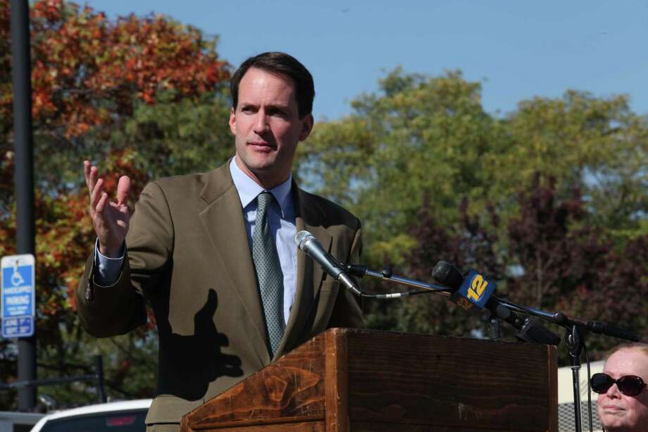 Congressman Jim Himes speaks at the Levitt Pavilion groundbreaking in Westport on Monday, Oct. 21, 2013. Photo: BK Angeletti, B.K. Angeletti / Connecticut Post freelance B.K. Angeletti