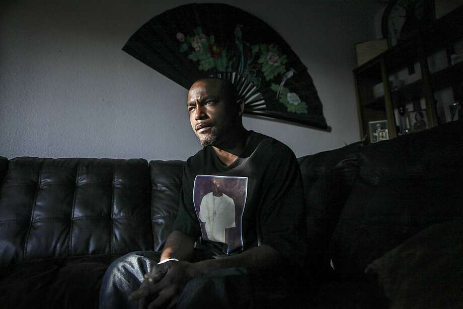 Maurice Rowland, the only worker that stayed behind to help patients after the closing of the Castro Valley Manor Residential Facility, poses for a portrait at his home in Hayward on October 29th 2013. Photo: Sam Wolson, Special To The Chronicle